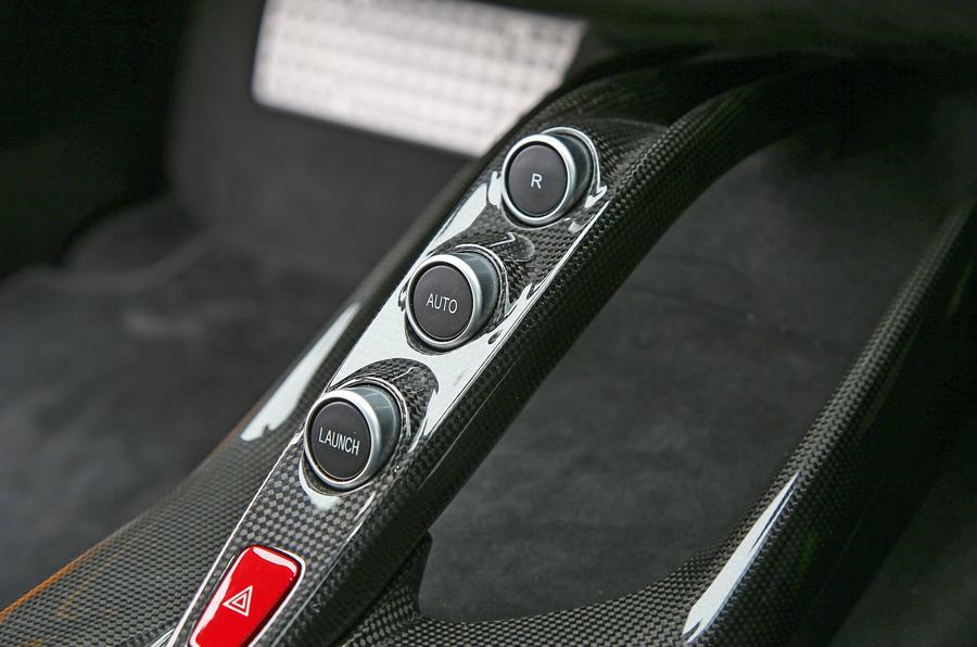 Ferrari 812 Superfast 2018 road test review launch button