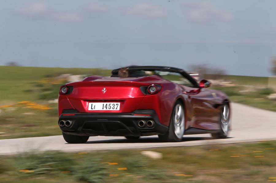 Ferrari Portofino review on the road top down