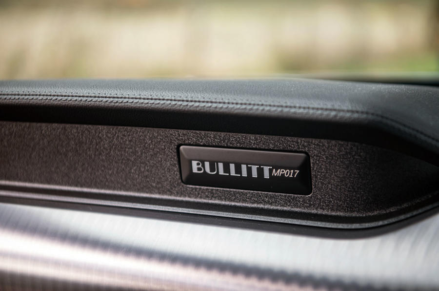 Ford Mustang Bullitt 2018 road test review - plaque