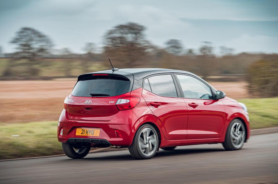 Hyundai i10 2020 road test review - cornering rear