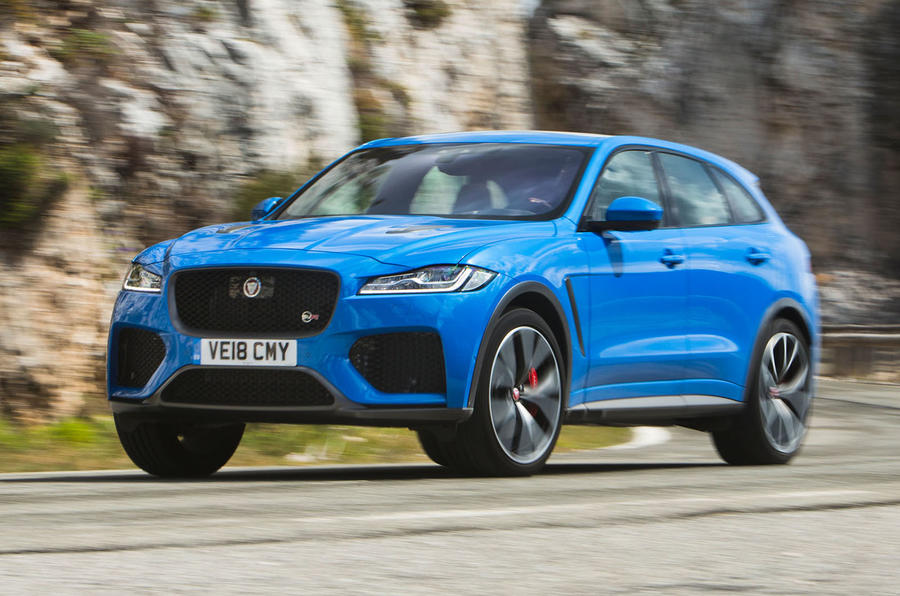 Jaguar F-Pace SVR 2019 first drive review - cornering front