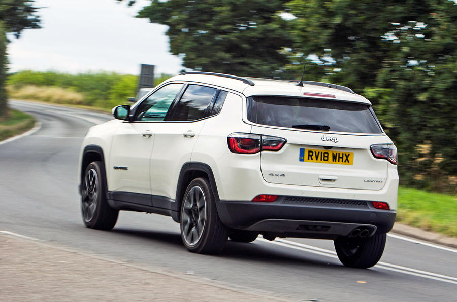 Jeep Compass 2018 road test review - cornering rear