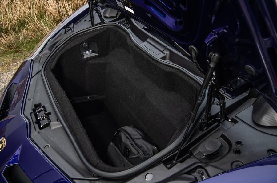 Lamborghini Aventador SVJ 2019 road test review - boot