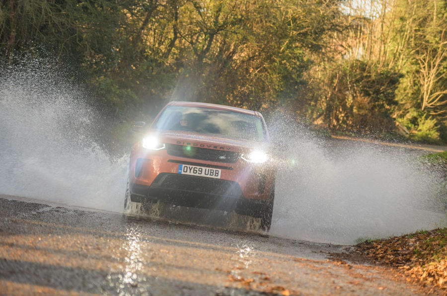 Land Rover Discovery Sport 2020 road test review - splash front