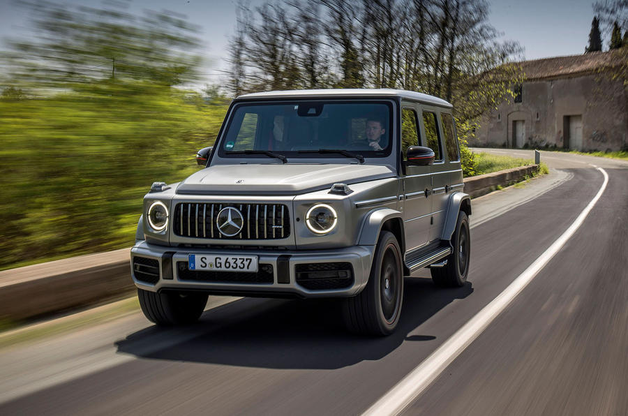 Mercedes-AMG G63 2018 review road front