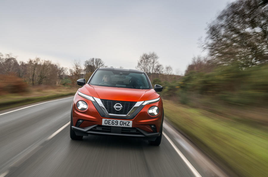 Nissan Juke 2020 road test review - on the road nose