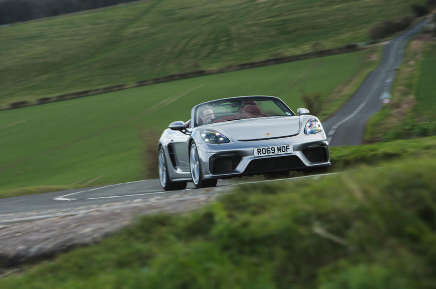 Porsche 718 Spyder 2020 road test review - on the road front