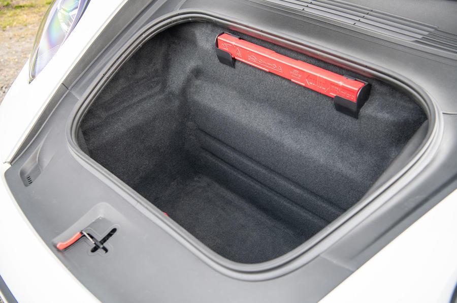 Porsche 911 Carrera S 2019 road test review - front boot