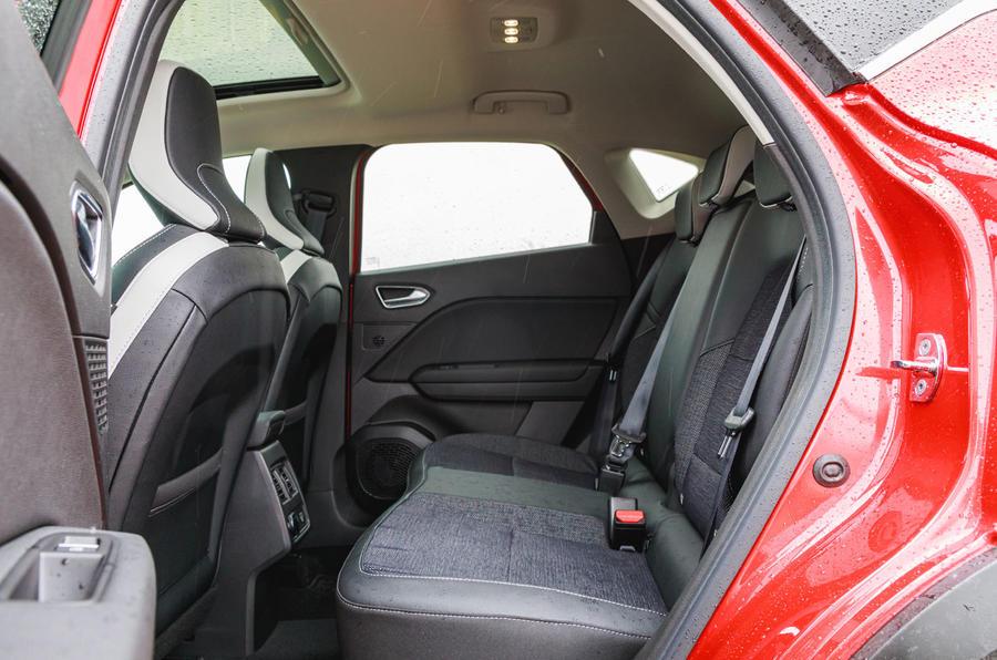 Renault Captur 2020 road test review - rear seats