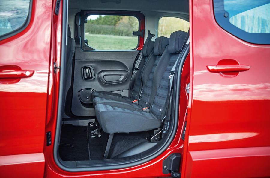 Vauxhall Combo Life 2018 road test review - rear seats