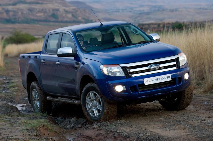 Ford Ranger off-roading