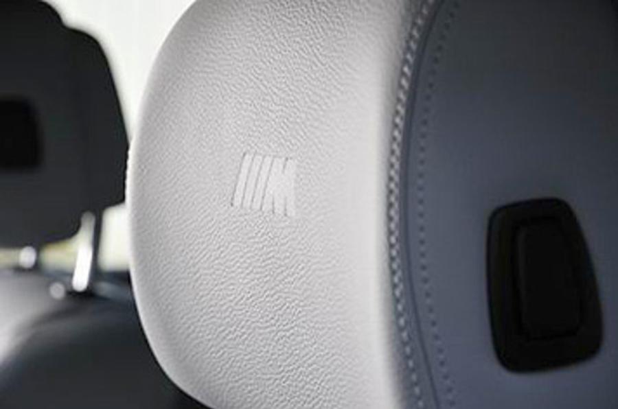BMW X6 M-stitched badged seats