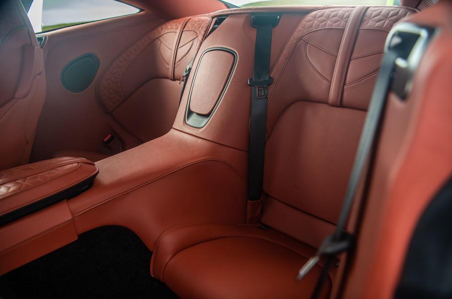 Aston Martin DBS Superleggera 2018 road test review - rear seats