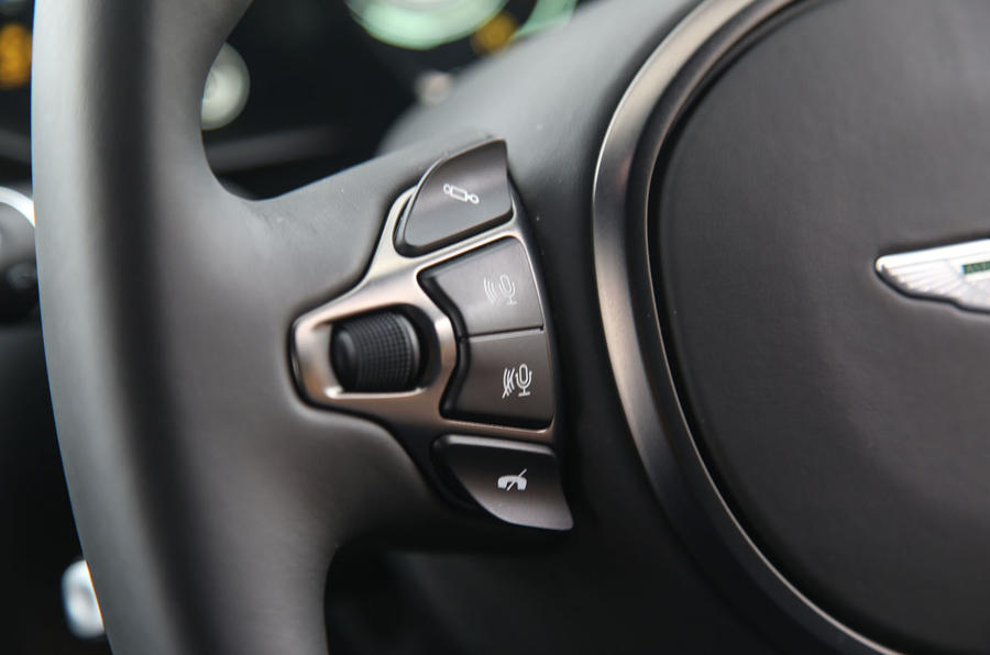 Aston Martin Vantage 2018 review voice controls