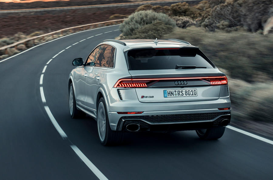 Audi RS Q8 2020 road test review - cornering rear