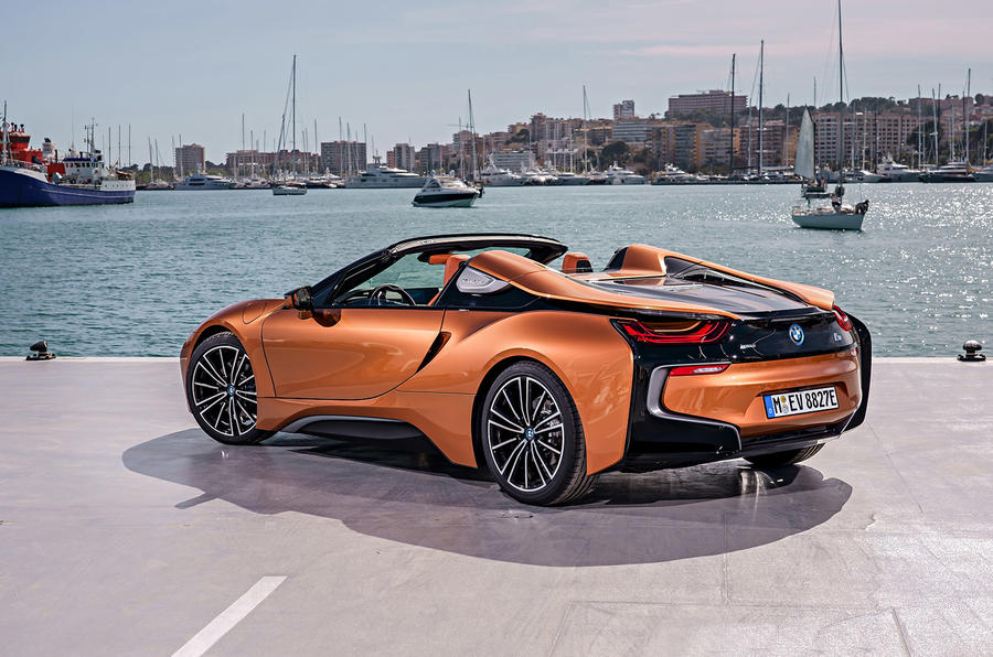 BMW i8 Roadster 2018 review static rear
