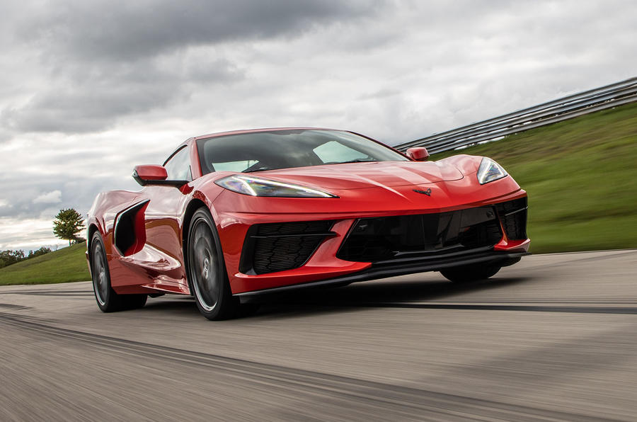 Corvette Stingray C8 2019 road test review - track front