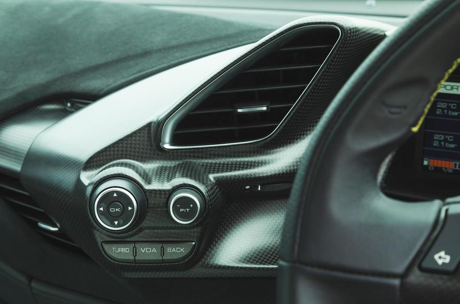 Ferrari 488 Pista 2019 road test review - climate control vents