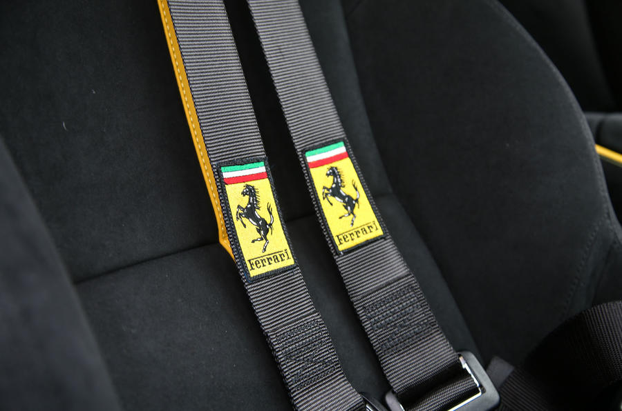 Ferrari 812 Superfast 2018 road test review seatbelts