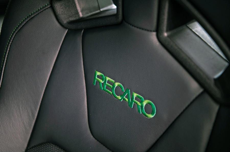 Ford Mustang Bullitt 2018 road test review - seat details