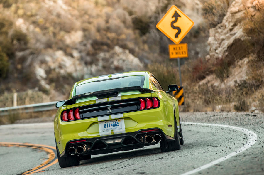 Ford Shelby Mustang GT500 2020 road test review - on the road rear