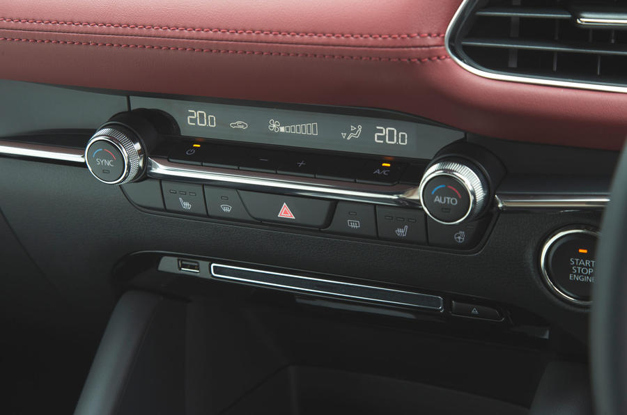 Mazda 3 Skyactiv-X 2019 road test review - climate controls