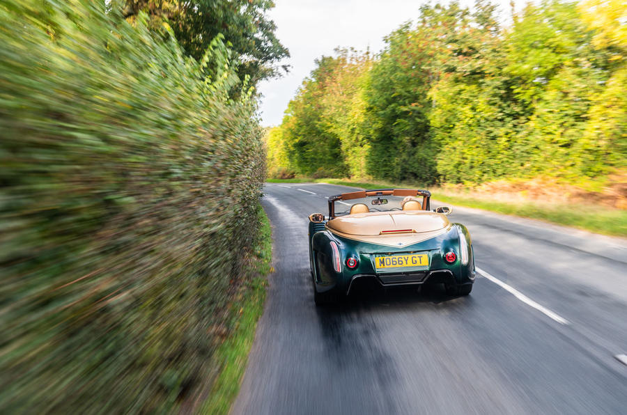 Morgan Aero GT 2018 review - on the road rear