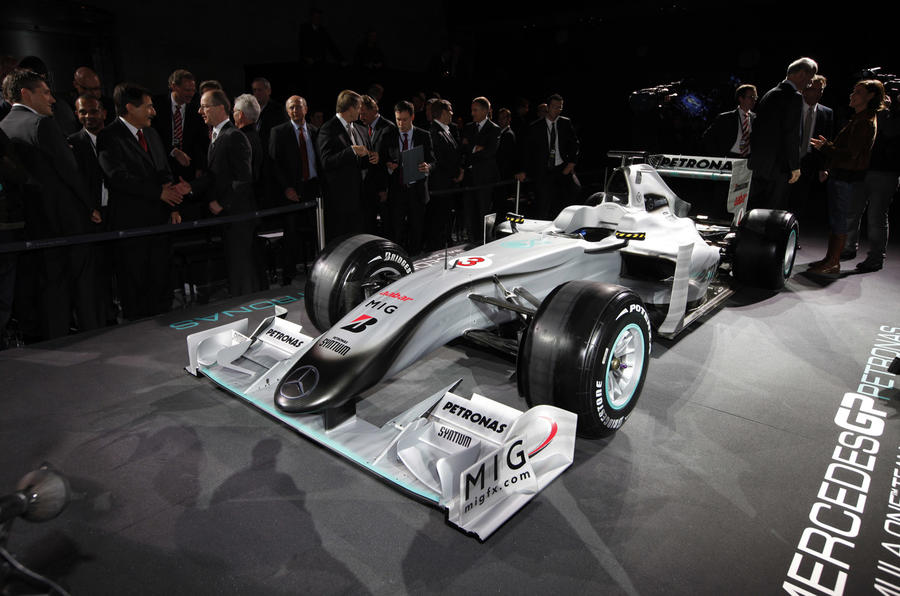 Mercedes GP shows F1 livery