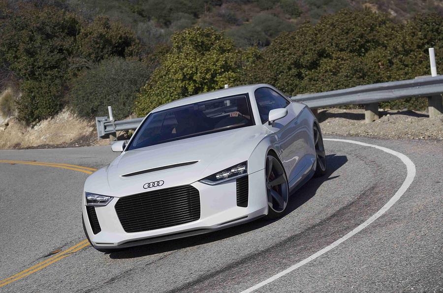 Audi Quattro Concept cornering