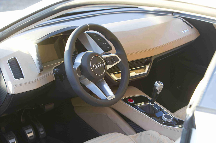 Audi Quattro Concept dashboard