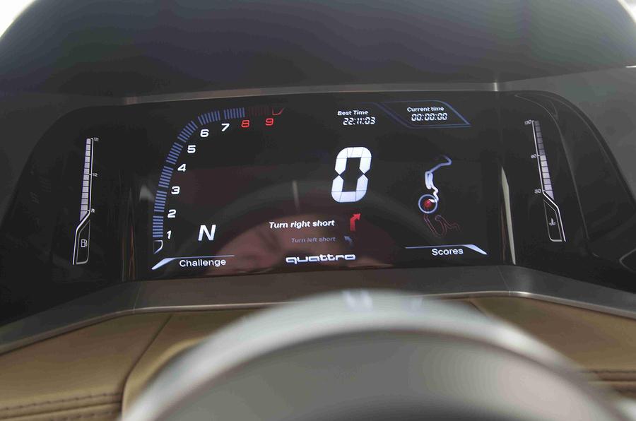 Audi Quattro Concept instrument cluster