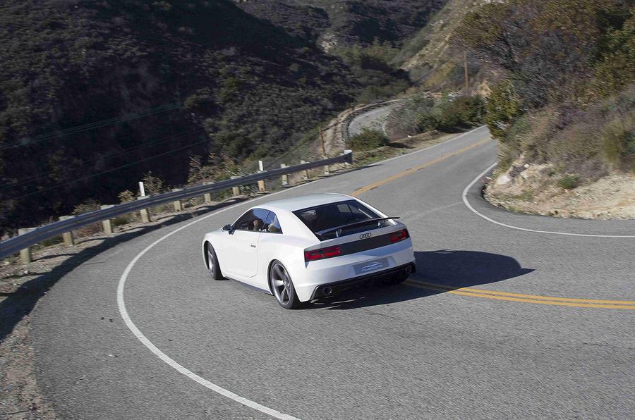 Audi Quattro Concept hard cornering