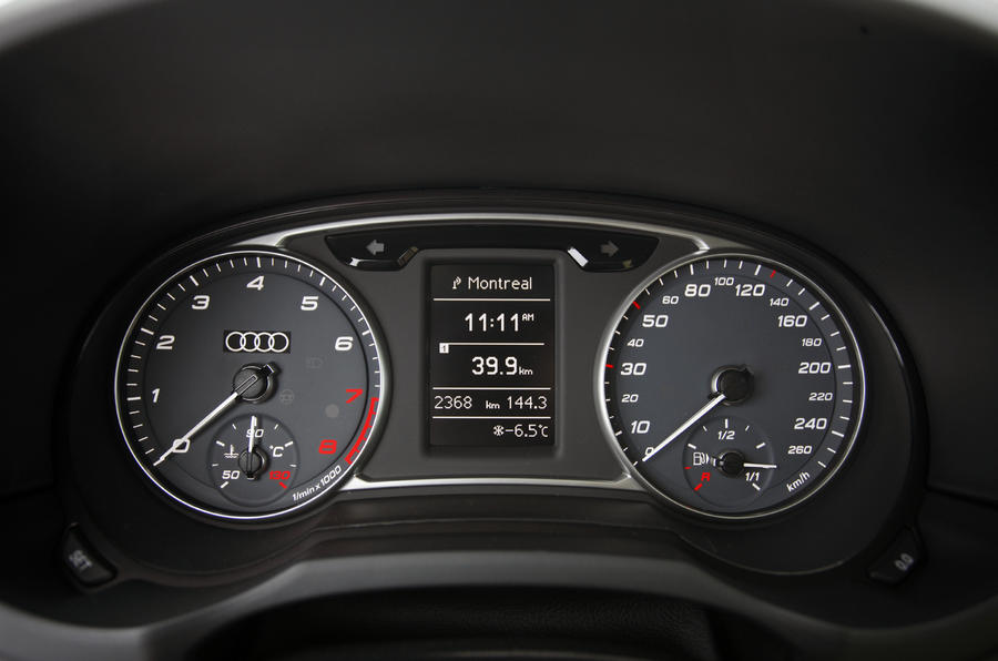 Audi A1 1.4T quattro instrument cluster