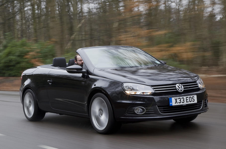 volkswagen eos 2 0 tdi dsg review autocar. Black Bedroom Furniture Sets. Home Design Ideas