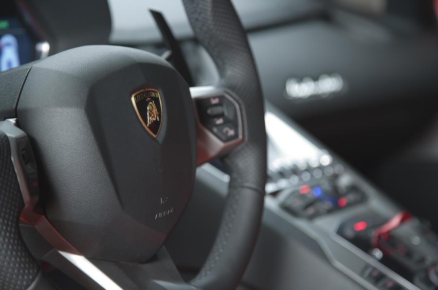 Lamborghini Aventador centre console