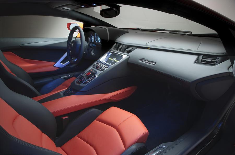 Lamborghini Aventador front seats