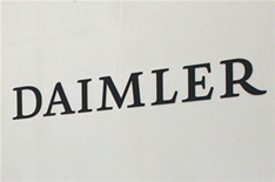 Daimler employees stage protest