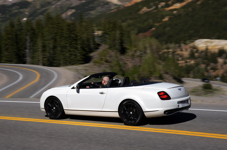 Bentley Continental GTC Supersports roof down