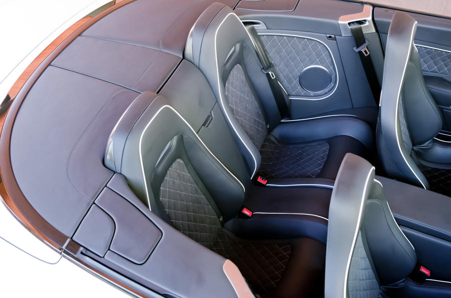 Bentley Continental GTC Supersports rear seats