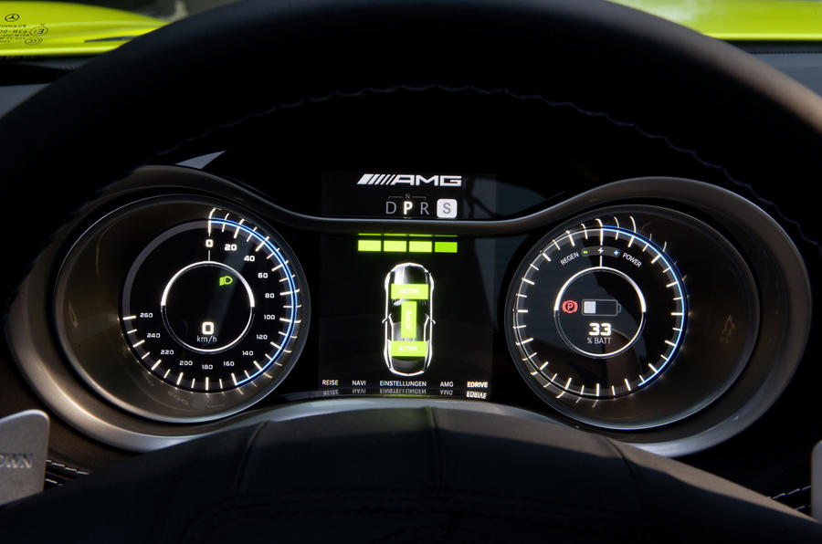 Mercedes-AMG SLS E-Cell instrument cluster