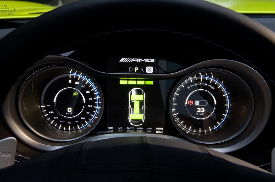 Mercedes-AMG SLS E-Cell instrument cluster