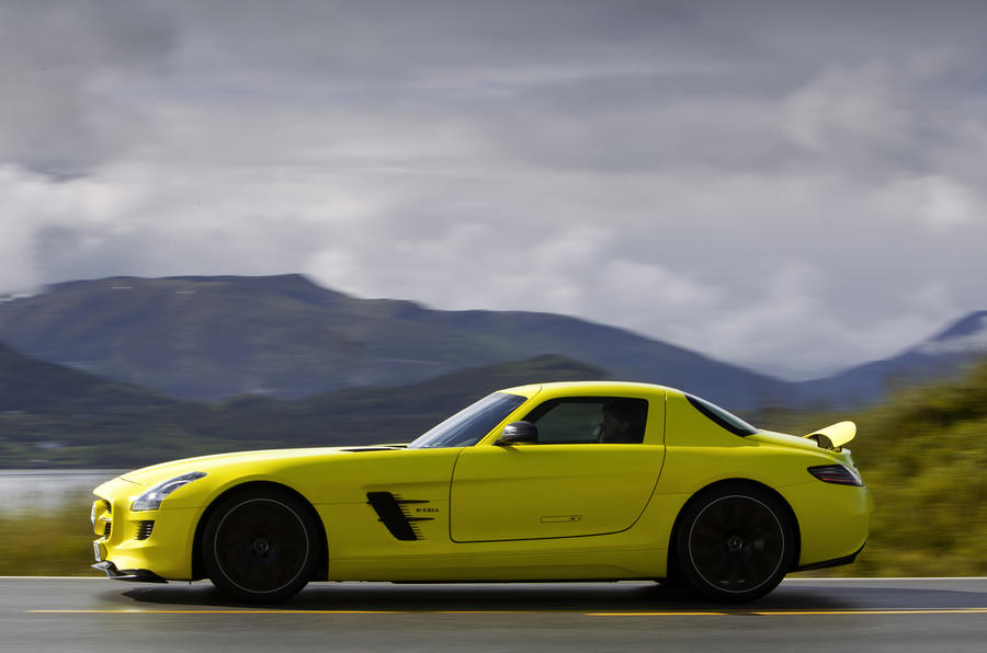 Mercedes-AMG SLS E-Cell side profile