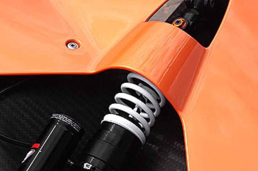 KTM X-Bow suspension