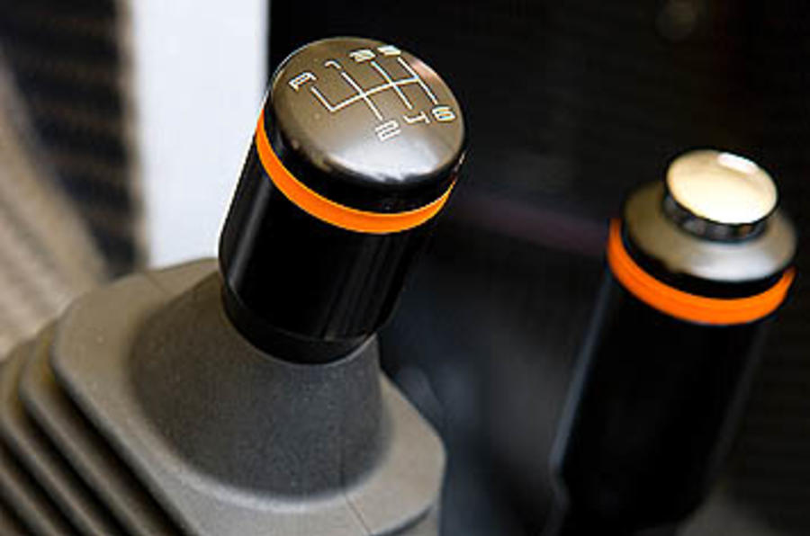 KTM X-Bow 300 manual gearbox