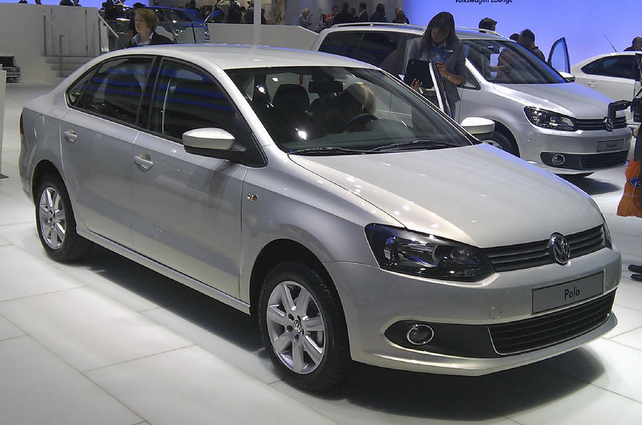 VW Polo saloon at Moscow