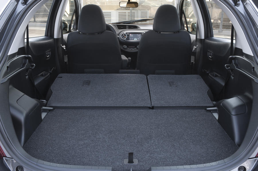 Toyota Yaris rear seats folded