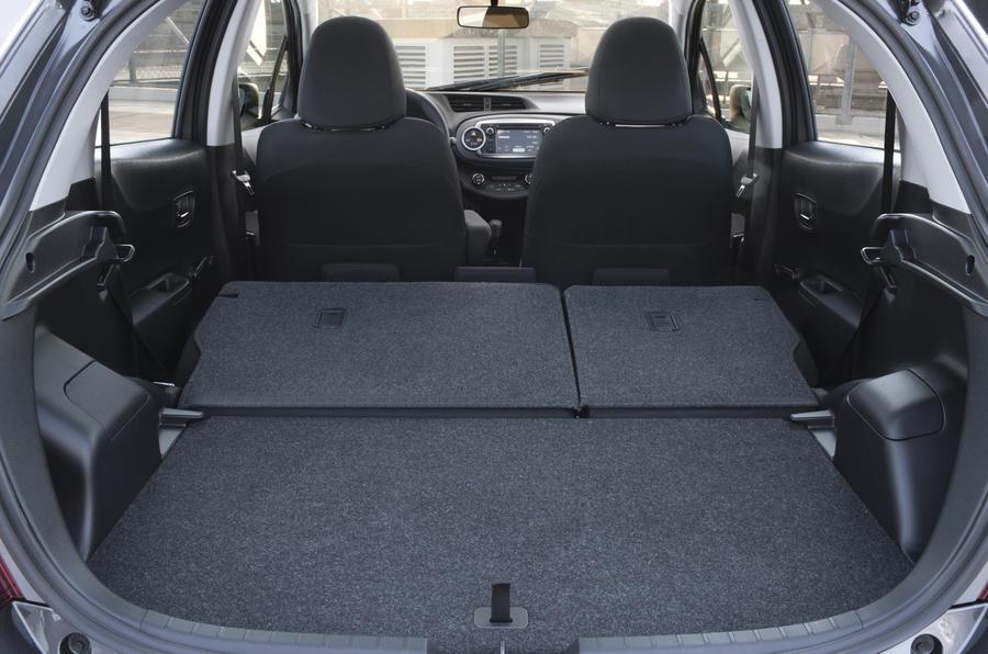 Toyota Yaris rear seats folded