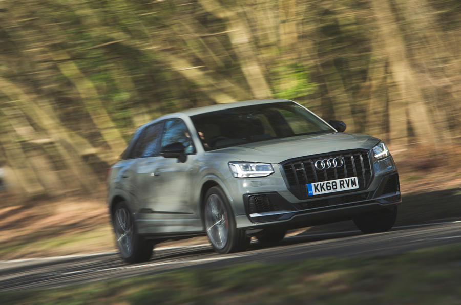 Audi SQ2 2019 road test review - cornering front