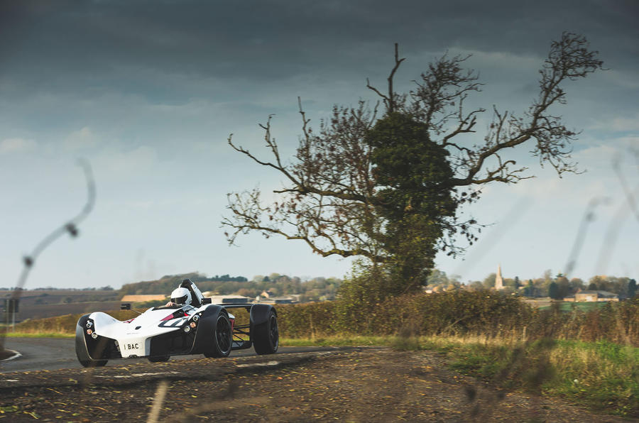 BAC Mono 2018 review - hero action