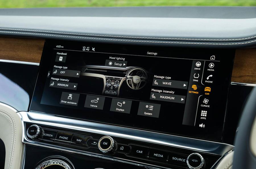 Bentley Continental GT 2018 Autocar road test review interior controls